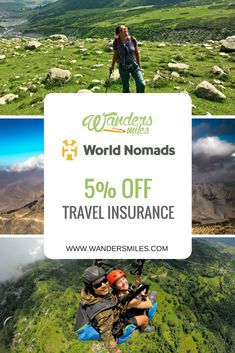 Wanders Miles have partnered with World Nomads to offer you 5% discount off your travel insurance policies.  Proper travel insurance cover is high on the preparation list for any upcoming adventure, don't ever leave home without it! Here's how to claim your 5% travel insurance discount...