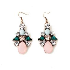 These beautiful lightweight crystal and gemstone drop earrings are perfect fordaytime and nighttime.