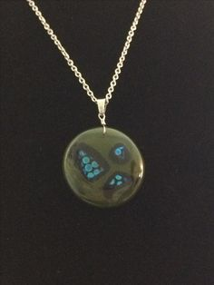 Kiln Fused Glass Necklace