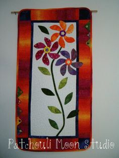 Flower wall quilt
