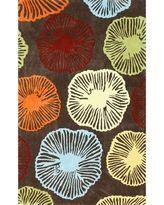 Handmade Petals Brown Rug (5 X 8)