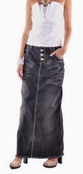 skirt denim. Style J Women's Grace Long Denim Skirt. This skirt was very comfortable and very slimming. #skirts