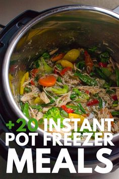Instant Pot Freezer Meals make dinner a snap! This collection includes over 20 recipes that can go straight from the freezer to the Instant Pot. Healthy Freezer Meals, Make Ahead Meals, Frugal Meals, Crockpot Meals, Easy Meals, Instant Pot Pressure Cooker, Pressure Cooker Recipes, Slow Cooker, Cheap Family Meals