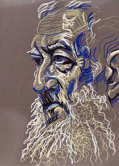 Tram Profile, 2009, by Fred Hatt Portrait Art, Portraits, Art Sketches, Art Drawings, Ap Studio Art, Oil Pastel Art, Arte Popular, Ap Art, Art Sketchbook