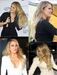 Khloe Kardashian | Blonde | Ombre Hair | Caramel blonde | long hair