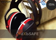 X3A Headband Earmuffs-Red = AED97.67 #safety #ppe #care #health #work #life #time #people #dxbsafe #hearingprotection #peltor #earmuffs #ears