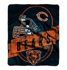 Chicago Bears Roster Flannel Pants - Navy Blue/Orange
