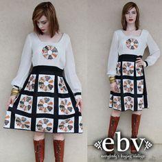 #Vintage #70s #Patchwork #Hippie #Boho #Mini #Dress M L by #shopEBV http://etsy.me/13rDCo5 via @Etsy #etsy #fall #fallfashion #autumn by shopEBV, $58.00