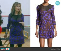 Kate's purple leaf print dress on Days of our Lives.  Outfit Details: https://wornontv.net/55753/ #DaysofourLives