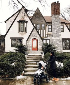 I never saw a Tudor house in person until I moved to Minneapolis. They have I never saw a Tudor house in person until I moved to Minneapolis. They have Tudor House, Tudor Cottage, Cottage Style, Style At Home, Tutor Style Homes, Future House, Barbie Dream House, House Goals, Cozy House