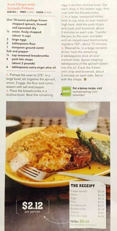 Clipped From Rachael Ray Magazine