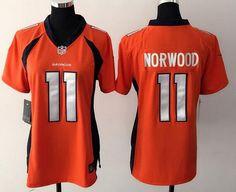 womens denver broncos jordan norwood orange team color nfl nike game jersey. see more. womens denver