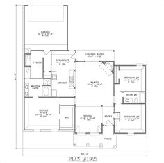 small open house plans plan 1923 floor plan - Open House Plans