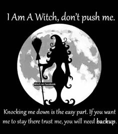 Don't push a witch