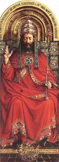 Pray Novena to Christ the King here Christ the King, Ghent Altarpiece, Jan Van Eyck. Jesus, remember me when you come into your . Jan Van Eyck, Life Of Christ, Christ The King, Ghent Altarpiece, Art Ancien, High Renaissance, Mystique, Sacred Art, Religious Art