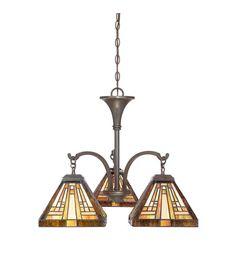Quoizel Lighting Stephen 3 Light Chandelier in Vintage Bronze TFST5103VB #quoizel