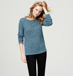 We love how a sleek bateau neck stylizes this chunky knit piece. Boatneck. Long sleeves. Drop shoulders. Ribbed neckline, cuffs and vented hem.