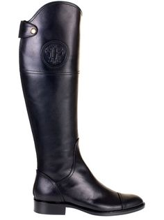 For any interested - while shopping I came across these (the black w/dk brown) boots & planned on purchasing them, but when I tried them on, they were quite tight in the calves & this wasn't even over jeans. The salesman said that, that was the biggest problem with these boots... heartbroken (I loved them, especially that color combo), I walked away & didn't purchase them & they were on sale! I have muscular/large calves (gymnast), but I am a petite size, 4 w/ big feet (9).        EMILIO…