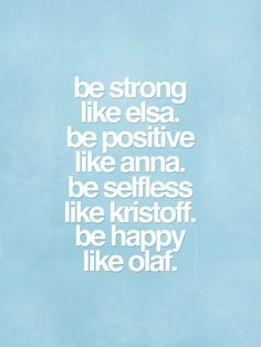 Disney Inspired Frozen Typography Movie Poster - Be Strong, Be Positive, Be Selfless, Be Happy on Etsy, $15.93