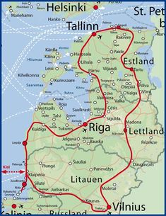 Your itinerary for 16 days The Baltics Discover culinary - travel Travel Route, Travel Maps, Places To Travel, Places To See, Europe Destinations, Road Trip, Reisen In Europa, Destination Voyage, Life Is A Journey