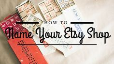 How to Name Etsy Sho