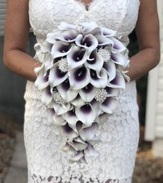 Your place to buy and sell all things handmade Excited to share this item from my shop: Cascading Purple Calla Lily Bouquet, Purple Brooch Bouquet, Plum Cascading Calla Lily Bouquet, Purple Lily Bouquet, Cascading Eggplant Bouqu Lilly Bouquet Wedding, Calla Lillies Wedding, Calla Lillies Bouquet, Calla Lily Boutonniere, Purple Calla Lilies, Purple Lily, Purple Wedding Bouquets, Lily Wedding, Bridesmaid Bouquet