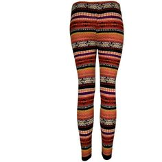 Multi Fairisle Print Leggings - Clothing - desireclothing.co.uk ($16) ❤ liked on Polyvore featuring pants, leggings, bottoms, jeans, pantalones, fair isle leggings, legging pants, fairisle leggings, style&co leggings and style&co pants