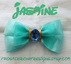 Items similar to Disney's Jasmine from Aladdin Inspired Bow on Etsy Disney Diy, Disney Crafts, Ribbon Hair, Ribbon Bows, Disney Jasmine, Princess Jasmine, Punk Princess, Disney Princess, Barrettes