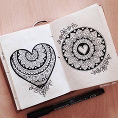 Mandala Art Therapy, Mandala Art Lesson, Mandala Artwork, Doodle Art Designs, Mehndi Art Designs, Rangoli Designs, Bff Drawings, Art Drawings Sketches Simple, Doodle Art Drawing