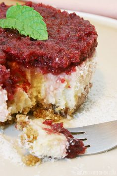 Super indulgent (raw) coconut cranberry cheesecake and our first giveaway. For all the right reasons :)