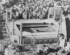 The Kaaba in the centre of the Masjid al-Haram in Mecca, Saudi Arabia, circa 1979.