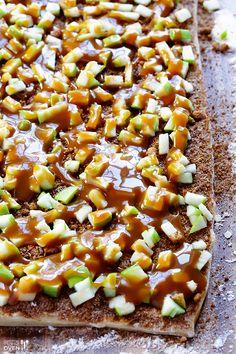 Caramel Apple Cinnamon Rolls Recipe | Gimme Some Oven