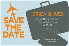 Personalized Save the Date Wedding Invitation from Bottle Your Brand