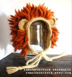 Adorable crochet lion hat. Need to figure out how to make this...WOW...lovly