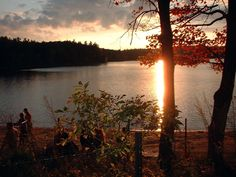 Walden Pond.  From H.D. Thoreau's 'Walden.'  Perhaps not quite 'fiction' per se...