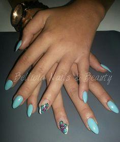 One stroke Nail by Bellícia Nails & Beauty #nails #nailart #onestroke #handpainted