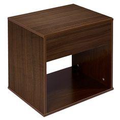 Emmas Basic Single Drawer Bedside Table - Walnut