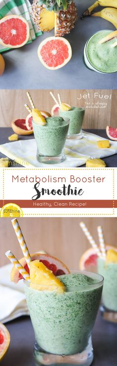 Metabolism Booster Smoothie / A powerful blend of metabolism boosting ingredients into one creamy, delicious and filling smoothie!