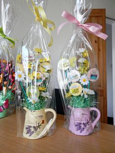 House warming gift bouquet of yankee candle tarts housewarming i made these spring hampers with yankee candle melts negle Choice Image