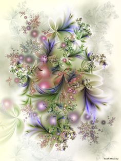 Flowers 15 by segami on deviantART ~ fractal art spring floral