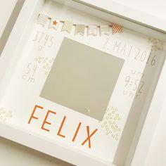Ein Ribba Rahmen zur Geburt des kleinen Felix. Stampin Up.