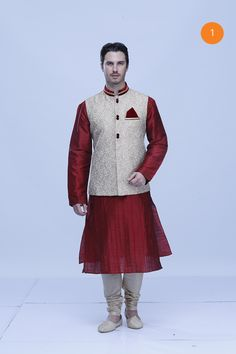 Manyavar Trendy Maroon Kurta Indian Groom Wear, Marriage Dress, Wedding Suits, Turban, Mens Suits, Men's Fashion, How To Wear, Blue, Dresses