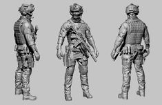 Hello Gentlemen, its been a while. This is my latest piece of work. I hope you like it. Character Modeling, 3d Character, Character Design, Zbrush, Airsoft, Military Special Forces, Model Tanks, Military Figures, Weapon Concept Art