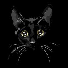 My beautiful cat Binx. Black Cat Painting, Black Cat Art, Black Cats, I Love Cats, Crazy Cats, Cute Cats, Pretty Cats, Beautiful Cats, Cat Drawing