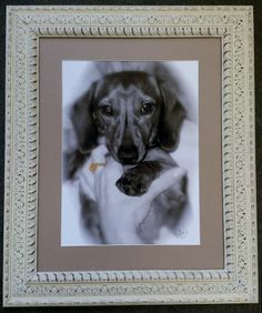 Hand embellished photo by Beth Wachter in gorgeous ornate frame