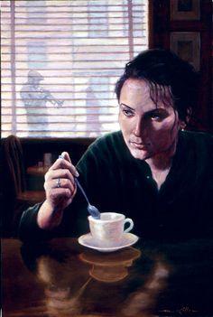 coffee and thoughts☆ Artist Mark Keller ☆ / Coffee Art / Coffee Shop Stuff