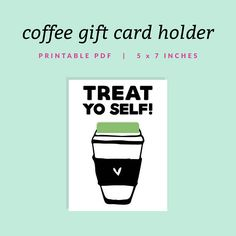 Easter egg filler coupons printable easter by treat yo self gift card holder printable coffee cup gift card holder instant download negle Choice Image