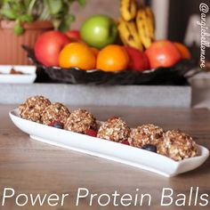Power Protein Balls !  #healthy #fitnessmotivation #healthyrecipe