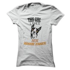 This girl loves her Boston Terrier T-Shirts, Hoodies. Get It Now ==►…
