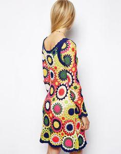 ASOS Dress in Multi Color Crochet